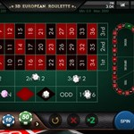 3D European Roulette Top View