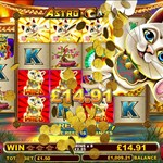 Astro Cat Bonus Round Win